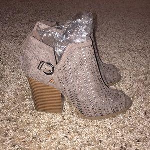 Brand new peep toe booties